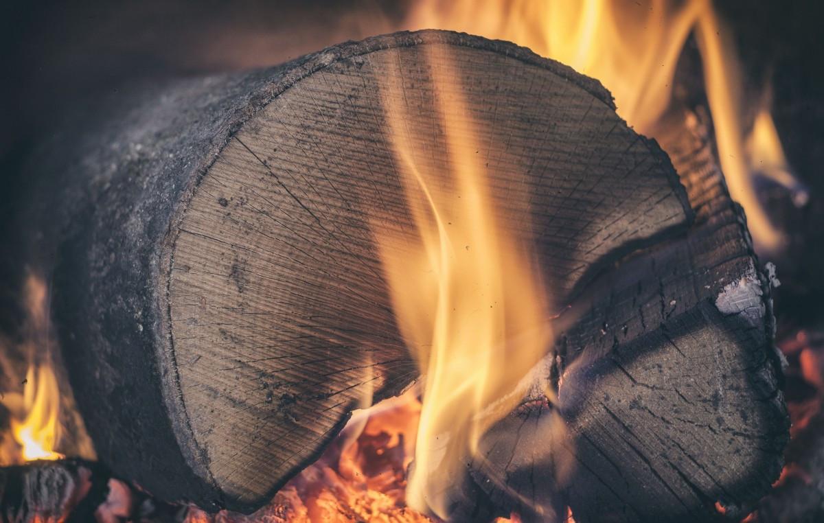madera fuego